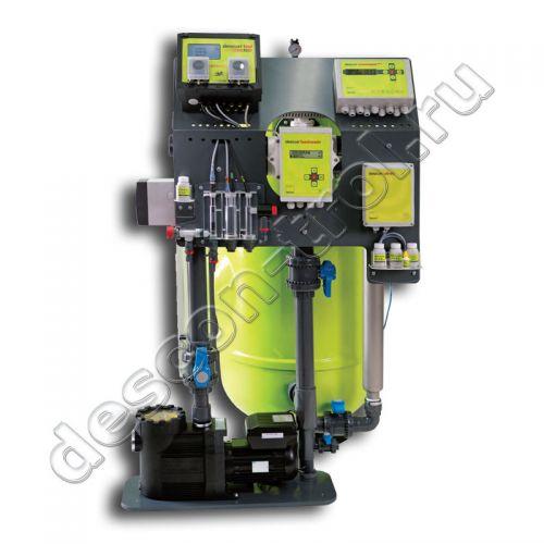 Установка комплексной обработки воды бассейна descon® watercare complete - OxiActiv / pH / t / command plus
