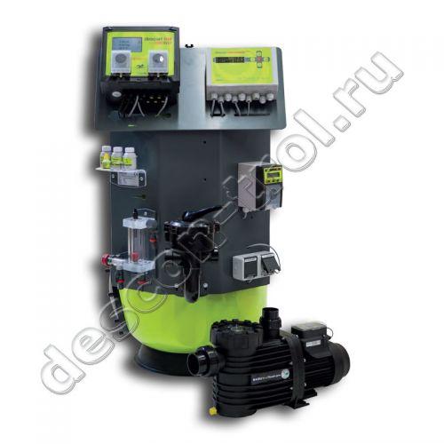 Установка descon® WATERCARE ECO - фильтр Premium 765, бесхлорная обработка / pH / t, ручной вентиль (51207XV)